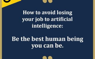 How to avoid losing your job to artificial intelligence