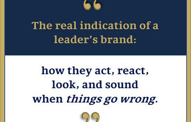 What is the true test of inspirational leadership?