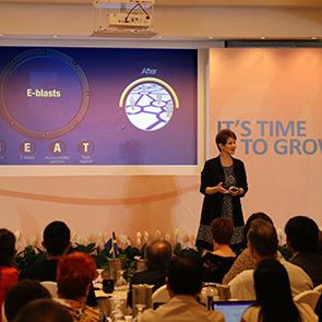 Keynote Speaker Brenda Bence Speaking At APSS Convention