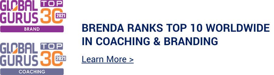Brenda Ranks Top 10 Worldwide in Coaching & Branding